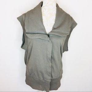 Herff Christiansen Asymmetrical Zip Vest L bh084